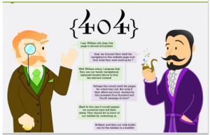 Distilled 404 error page with great copy