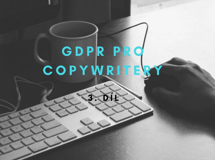 GDPR pro copywritery
